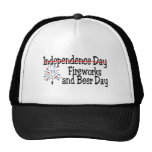 Fireworks and Beer Day Mesh Hats