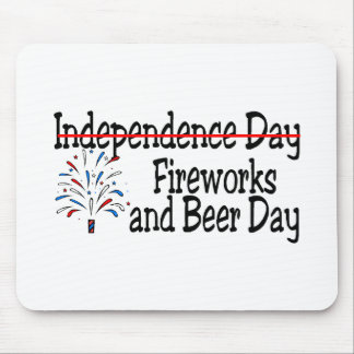 Fireworks and Beer Day Mousepads