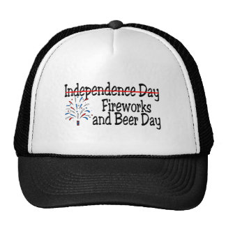 Fireworks and Beer Day Trucker Hat