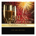Fireworks and Champagne New Year Party invitation