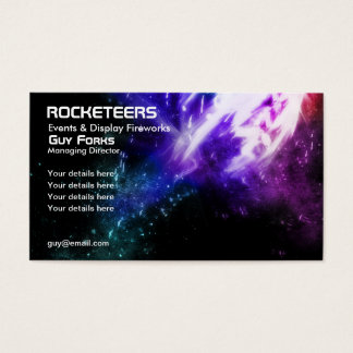 Fireworks and events business card