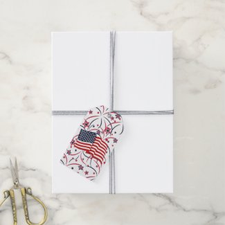 Fireworks and Flag Gift Tags