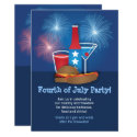 Fireworks and Food 4th of July Invitation