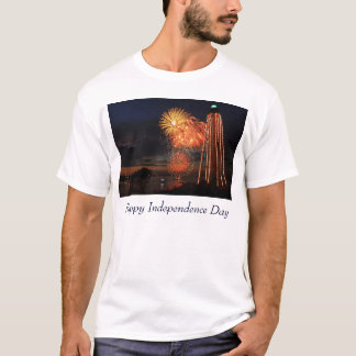 Fireworks and Lighthouse Marblehead MA T-Shirt