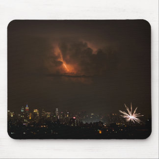 Fireworks And Lightning in NYC Mouse Pad