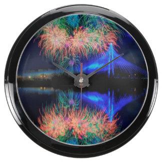 Fireworks Aquarium Clock