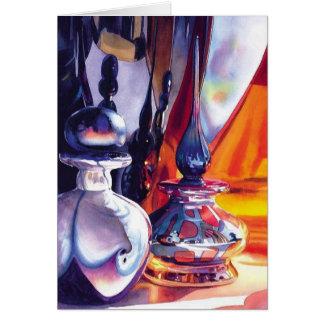 """Fireworks"" Art Glass Watercolor Paul Jackson Greeting Card"