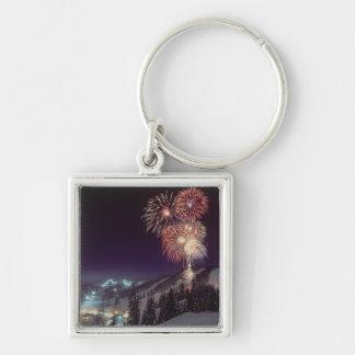 Fireworks at Big Mountain Resort in Whitefish, Keychain