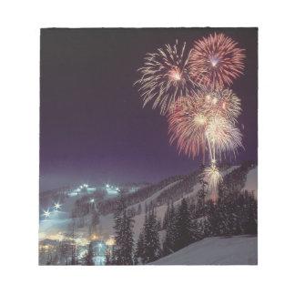 Fireworks at Big Mountain Resort in Whitefish, Memo Note Pad