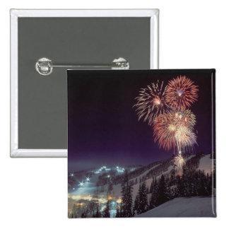 Fireworks at Big Mountain Resort in Whitefish, Pinback Button