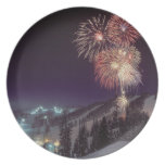 Fireworks at Big Mountain Resort in Whitefish, Party Plate