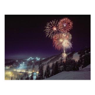 Fireworks at Big Mountain Resort in Whitefish, Postcard