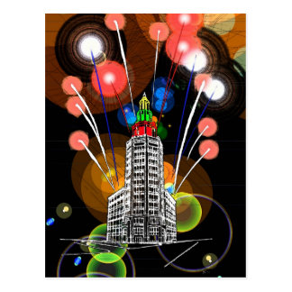 Fireworks at the Electric Tower Postcard