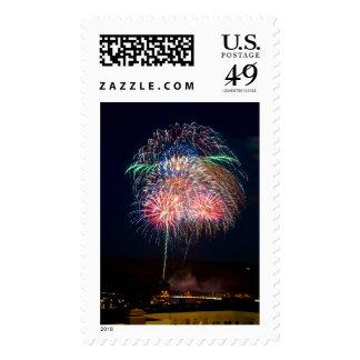 Fireworks at the Lift Bridge Postage