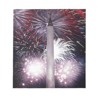 Fireworks At  Washington Monument Scratch Pads