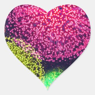 Fireworks, Baby! - Heart Sticker