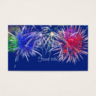 Fireworks Background Business Card