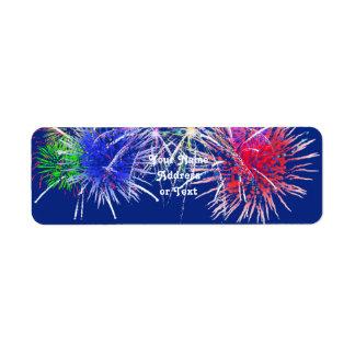 Fireworks Background Label