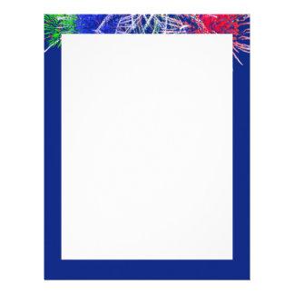 Fireworks Background Customized Letterhead