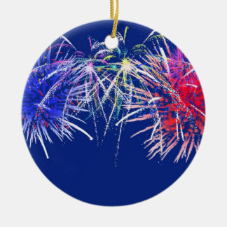 Fireworks Background Christmas Ornaments