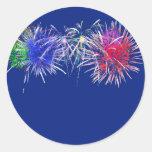 Fireworks Background Round Sticker