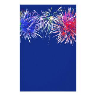 Fireworks Background Stationery