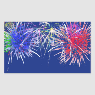 Fireworks Background Rectangle Stickers