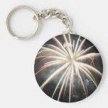 Fireworks Basic Round Button Keychain