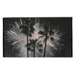 Fireworks behind palm  trees iPad folio cases