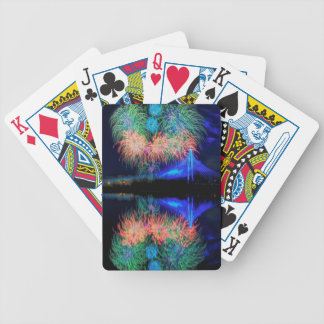 Fireworks Bicycle Playing Cards