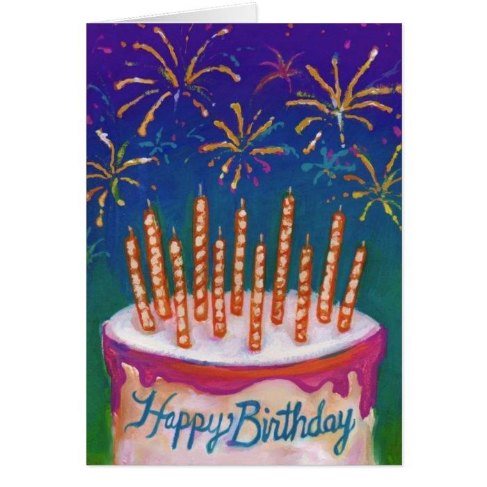 Birthday Cake Anniversary Fireworks Image Inspiration of Cake