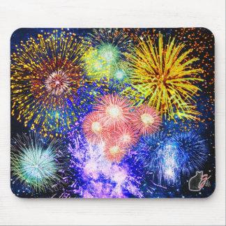 Fireworks Bursts Mouse Pad