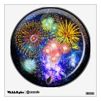 Fireworks Bursts Viewport Lenz Wall Sticker
