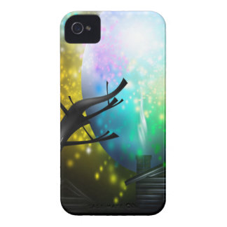 Fireworks Cabin in Woods Pretty Moon Blackberry Ca iPhone 4 Case