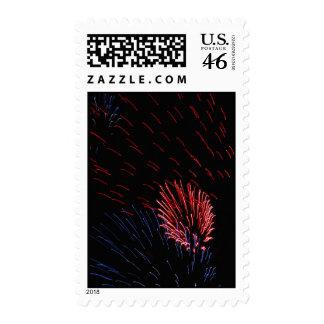 Fireworks Canada Day Postage Stamp