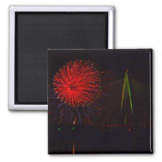 Fireworks Christopher S. Bond Bridge Kansas City 1 Magnet