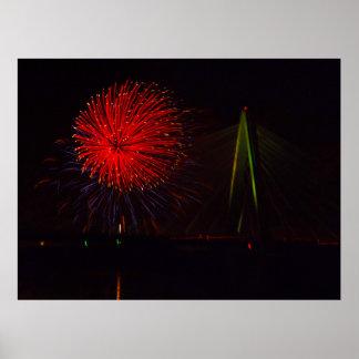 Fireworks Christopher S. Bond Bridge Kansas City 1 Poster