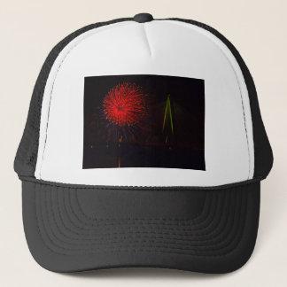 Fireworks Christopher S. Bond Bridge Kansas City 1 Trucker Hat