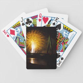 Fireworks Christopher S. Bond Bridge Kansas City 2 Bicycle Playing Cards