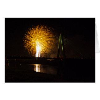 Fireworks Christopher S. Bond Bridge Kansas City 2 Card