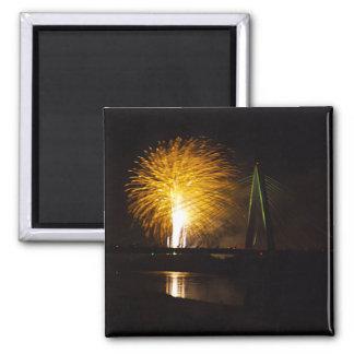 Fireworks Christopher S. Bond Bridge Kansas City 2 Magnet