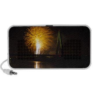 Fireworks Christopher S Bond Bridge Kansas City 2 iPhone Speakers