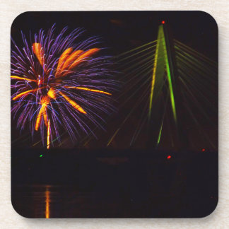 Fireworks Christopher S. Bond Bridge Kansas City 3 Coaster