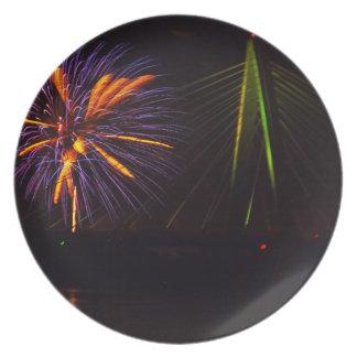 Fireworks Christopher S. Bond Bridge Kansas City 3 Dinner Plate