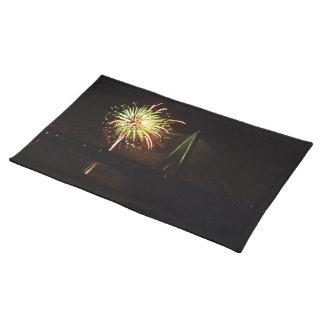 Fireworks Christopher S. Bond Bridge Kansas City 4 Cloth Placemat