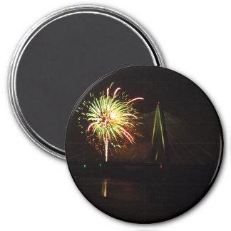 Fireworks Christopher S. Bond Bridge Kansas City 4 Magnet