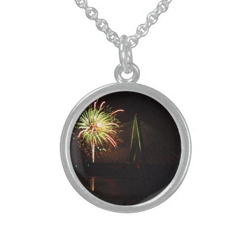 Fireworks Christopher S. Bond Bridge Kansas City 4 Necklace