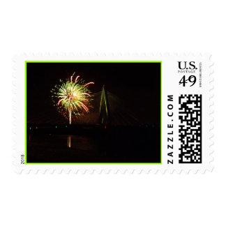 Fireworks Christopher S. Bond Bridge Kansas City 4 Postage