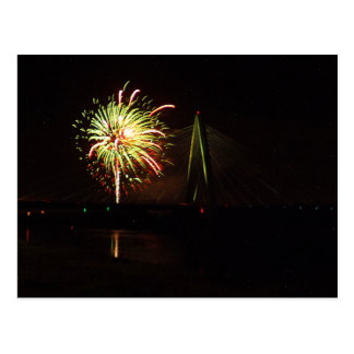 Fireworks Christopher S. Bond Bridge Kansas City 4 Postcard