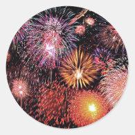 Fireworks! Classic Round Sticker